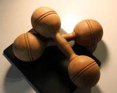 Pair of Antique Wooden Dumbbells
