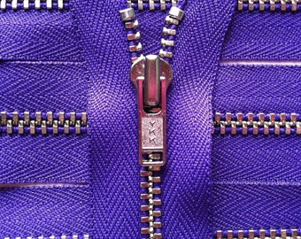 Metal Zippers- YKK closed bottom nickel teeth zips- (5) pieces - Purple 218- Currently available in 6,7,9,12,14  and 18 Inch
