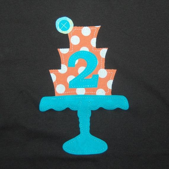 2nd birthday tee ... Ready To Ship ... Vintage Cake stand tee ... girl birthday tee