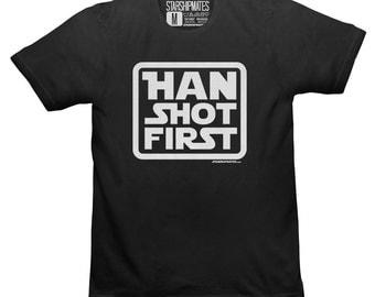 Han Shot First T-shirt White/Black