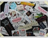 A Hong Kong  Company 200 pcs Custom  Clothing Damask Woven Labels (Artwork)
