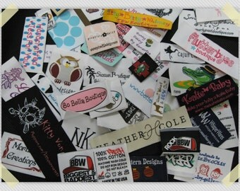 600 pcs Custom Clothing Garment Professional Name Woven Labels (Artwork)