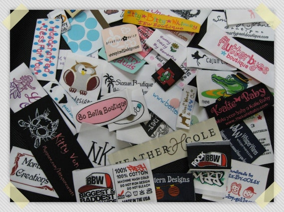 1,200pcs Custom Boutique Clothing Damask Woven Labels (Artwork) Free Shipping