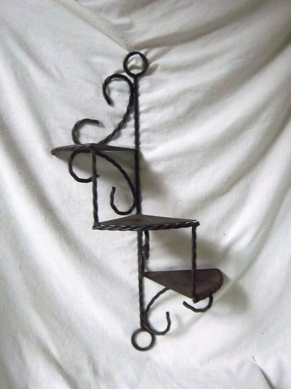Vintage Indoor/Outdoor Stairstep Heavy Metal Plant/Shelf Hanging