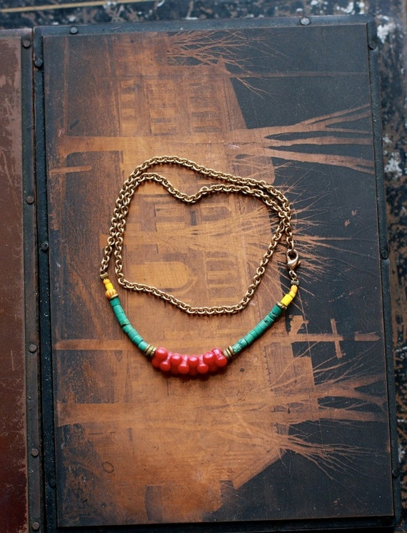 Turquoise and Coral Double Bracelet