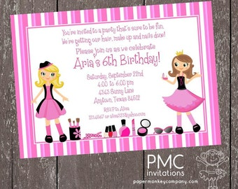 Glamour Girl Birthday Invitation - 1.00 each with envelope
