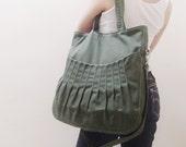New Year SALE - 40% OFF Kangaroo Max in Army Green / Shoulder Bag / Tote / Diapers Bag / Purses / Hobo / Handbags / School  / Women