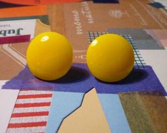 LAST PAIR - SALE - Big Sweet Earrings - Yellow