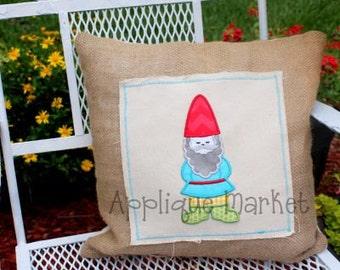 Machine Embroidery Design Applique Gnome JUMBO INSTANT DOWNLOAD