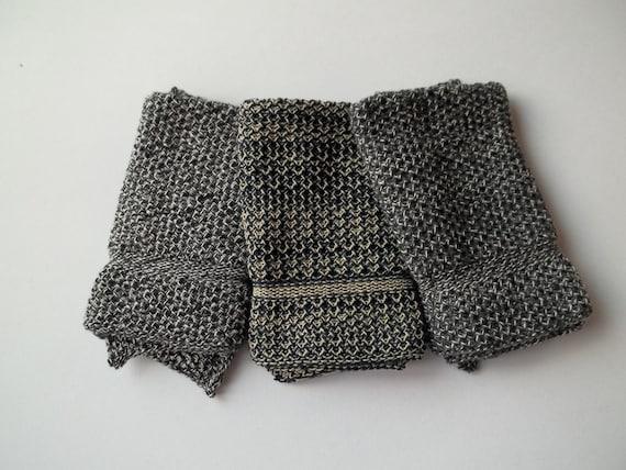 Dishcloths knit in cotton - Jazz Blue/Oatmeal, Black Marl, Black Marl/Anthracite