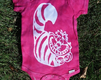 Cheshire Cat Alice In Wonderland Baby Batik Onesie CUSTOM Made