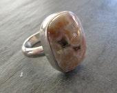 Pretty in Pink Ocean Jasper Ring in Sterling Silver