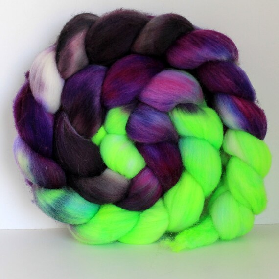 ZOMBIE -  Merino - Handpainted - Hand Dyed Wool Top Roving 4oz