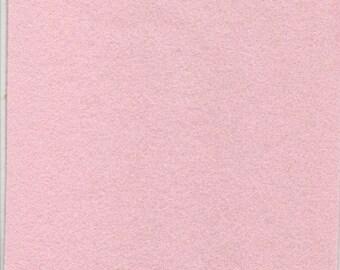 Pure Wool Felt Sheet - Very Soft Pink - Half Metre / Quarter