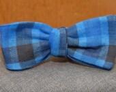 Blue and Black Lumberjack Flannel  Bow Tie