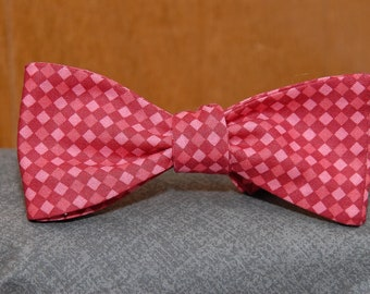 Red on Red Checkered  Bow Tie