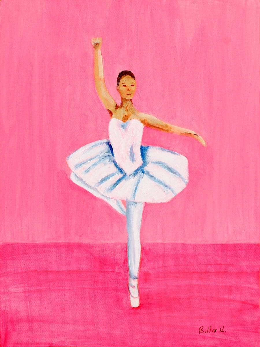 pink ballerina u0027s room painting canvas wall art