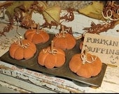 Primitive PUMPKIN Muffins FALL Halloween Gathering Muffin Tin