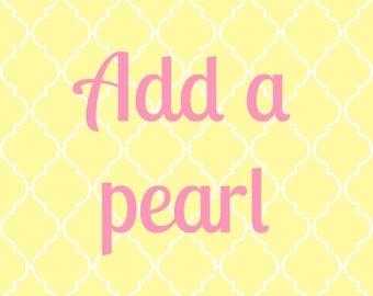 ADD A PEARL -- Add a Swarovski Pearl Charm to Your Necklace, Bracelet or Keychain