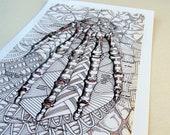 5x7 print- HAND - anatomy print