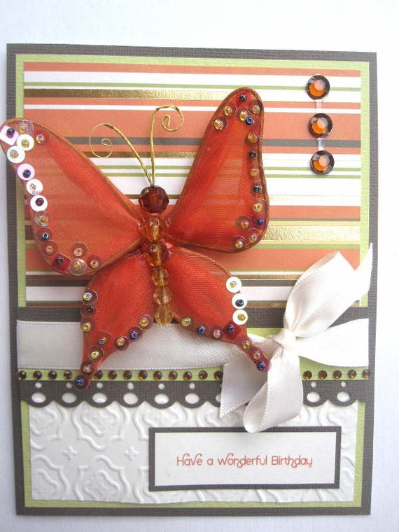 Butterfly Birthday card can be PERSONALIZED