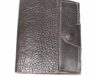 Brown Cowhide Refillable Pad Holder Journal Handmade