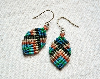 Mini Buddha Earrings in green