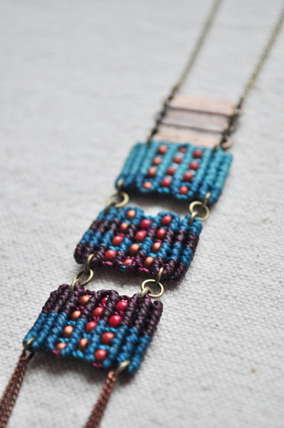 Triple Circuit Necklace in turquoise