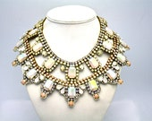Doloris Petunia One of a Kind Pastel Bridal Necklace- Ready to Ship
