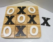 Wooden  Tic-Tac Toe Board Game Toy~Nostalgic Toy~Educational Toy~Classroom~Birthday Gift~Handmade Wooden Game~Travel Game~Child  Adult Game
