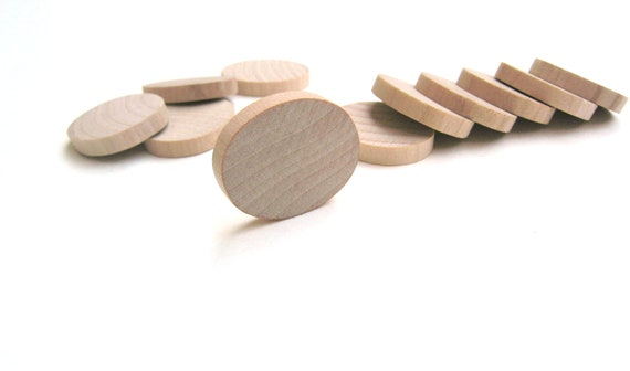 """50 - 1 1/4"""" Wooden Ovals for Unfinished Wood Crafts- 1 1/4 Inch (32 mm)"""