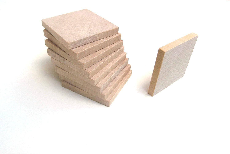 50 2 unfinished wooden squares 2 inch 5 cm large for Large wooden blocks for crafts