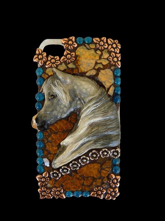 Arabian Horse Mosaic Cell Phone Case