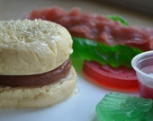 Hamburger Soap - Burger with all the Fixins Vegan Soap Set - Father's Day Gift Set