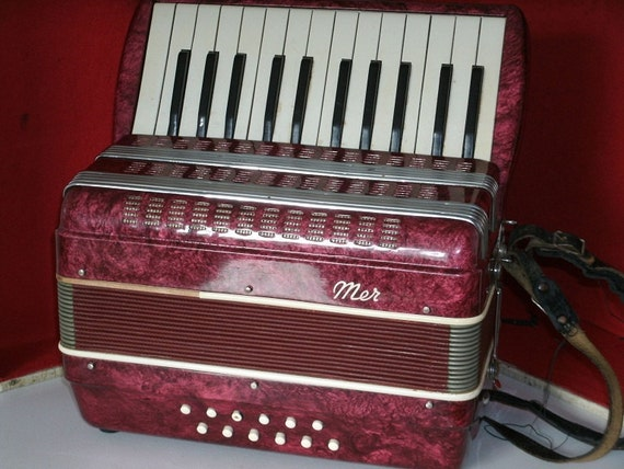 Vintage Merano Accordian Italian Made
