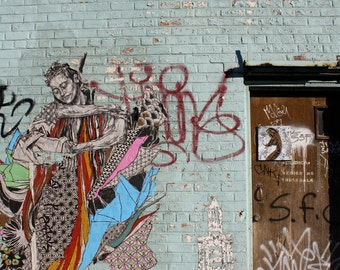 Brooklyn Street Art Photograph, The Lady of My Dreams, 5x7 Matted Photograph