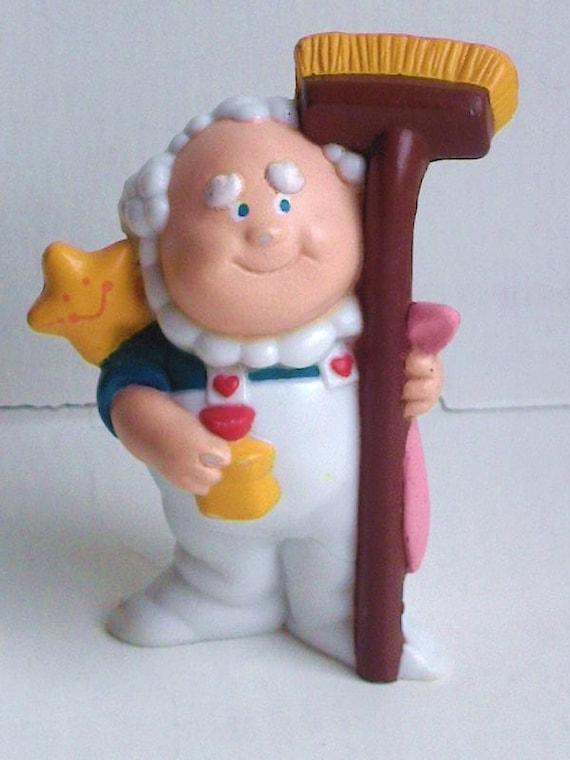 Cloud Keeper -- cute mini vintage Care Bears figure  1980s 2 inch figure -- collectibles purple retro toys  80s eighties