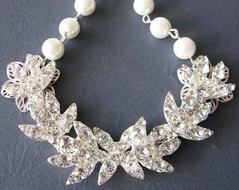 Bridal Jewelry Wedding Necklace Wedding Jewelry Crystal Bridal Necklace Crystal Necklace Rhinestone Jewelry
