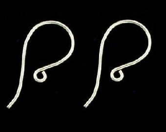 Sterling Silver Earwires, 20 pcs Bulk- Bali Sterling Silver Earwire - 18x9mm 10 pairs
