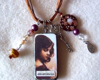Awareness Ragamuffin necklace, No. 75