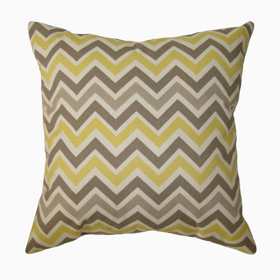 Throw Pillows In Clearance : Items similar to CLEARANCE - Chevron Throw Pillow - Zoom Zoom Sunny & Natural Decorative Throw ...