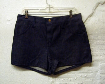 70s Denim Shorts Vintage 1970s Hot Pants Shorts Jean