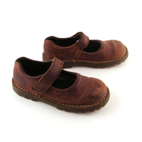 Doc Martens Shoes Mary Janes 1990 Brown Leather Mary Janes Kids size