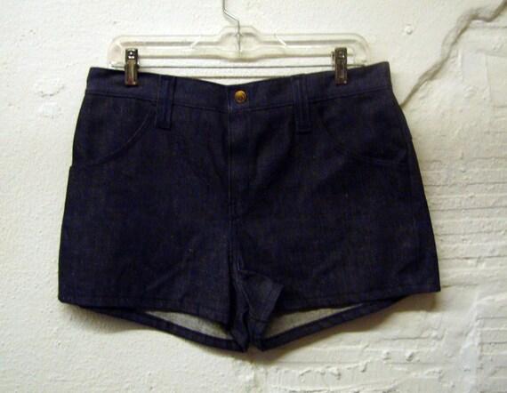 70s Denim Shorts Vintage 1970s Hot Pants Shorts Jean