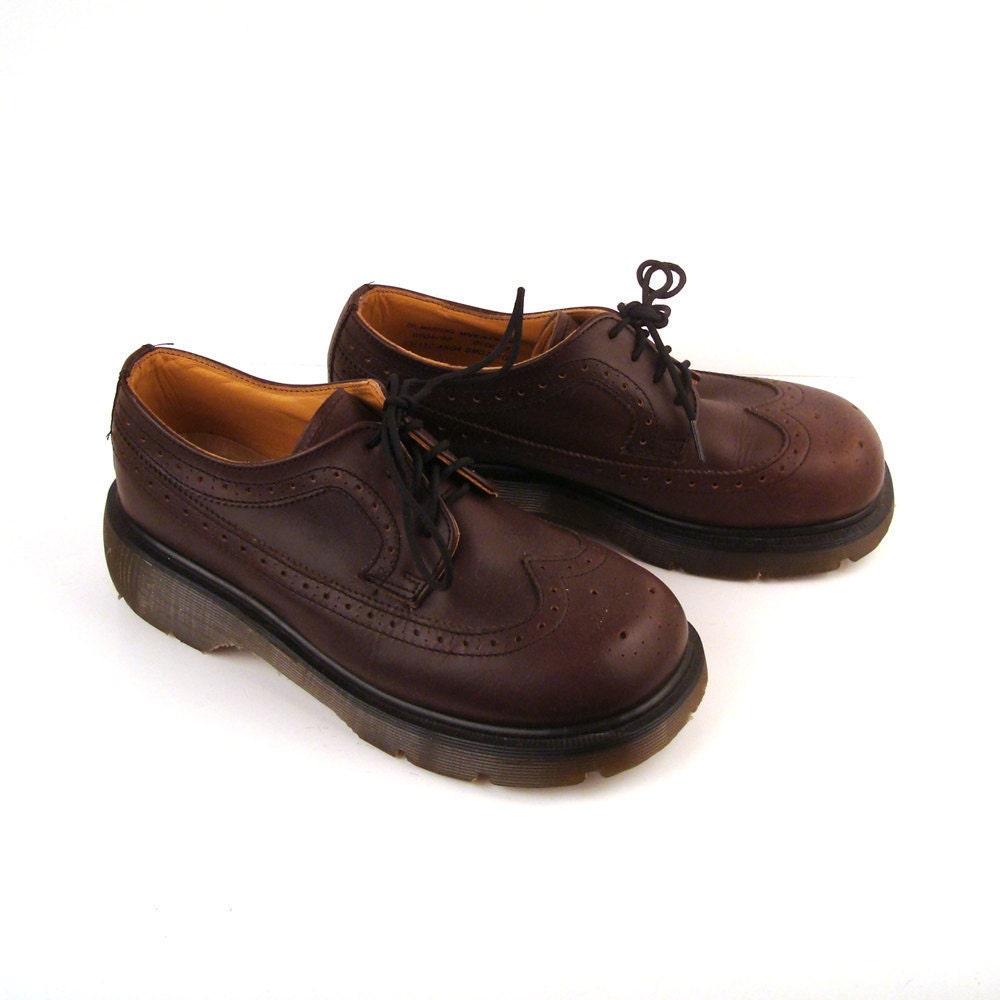Doc martens dr oxfords vintage 1990 brown by purevintageclothing