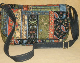 Purse Small Flap Shoulder Bag Crossbody Bag Quilted Patchwork Multi-Colored