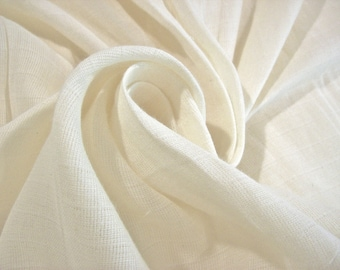 "Double Gauze / Muslin for Swaddle Sacks/Blankets etc.,63"" Wide, UNBLEACHED Scoured GOTS Organic cotton ;PFD, Treasury Item.1 yard sample"