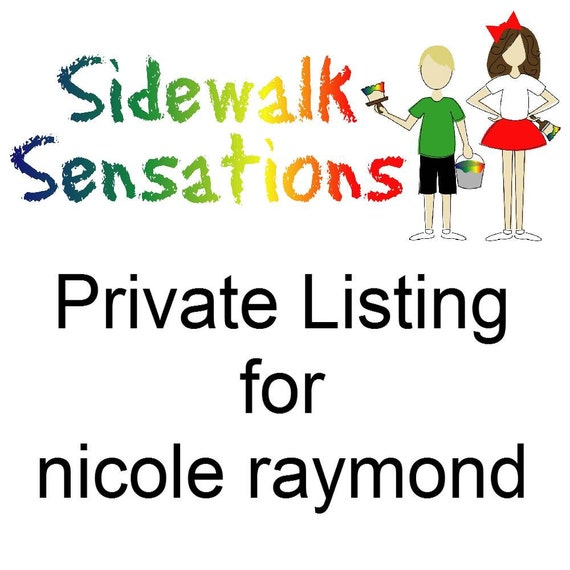 sidewalk paint mini-stack party favors - set of 16  PRIVATE LISTING for nicole raymond