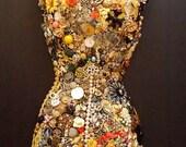 Vintage Jewel Encrusted Mannequins - Front and Back