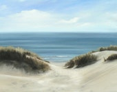 dunes and the sea giclee art print